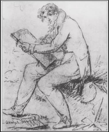 Художник Федор Толстой автопортрет 1810 г.