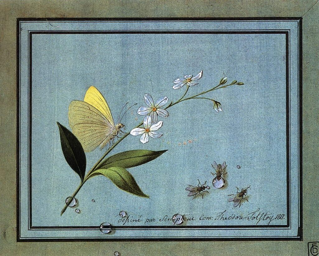 Художник Федор Толстой натюрморты с цветами и ягодами