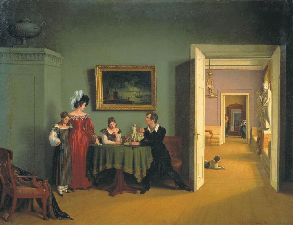 Художник Федор Толстой автопортрет с семьей 1830 г.