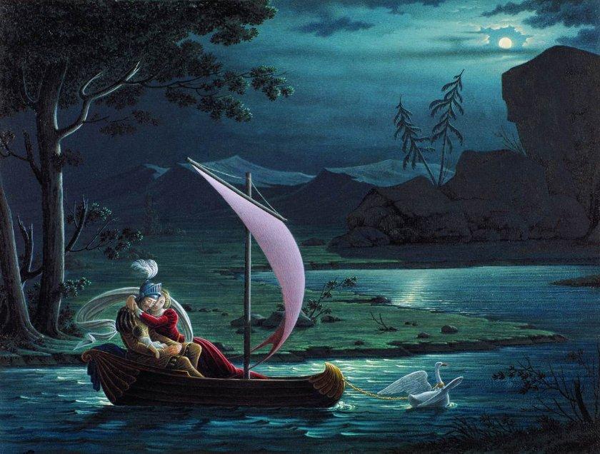 Художник Федор Толстой. Рыцарь Лебедя картина